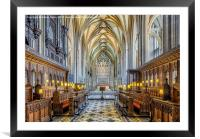 Cathedral Aisle, Framed Mounted Print