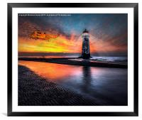 Lighthouse Rescue, Framed Mounted Print