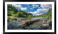 Mymbyr Lakes Snowdonia, Framed Mounted Print