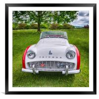 Classic Triumph TR3a, Framed Mounted Print