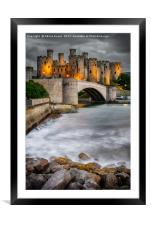 Conwy Castle At Night, Framed Mounted Print