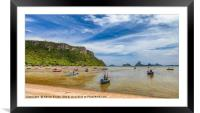 Fishing Boats Thailand, Framed Mounted Print
