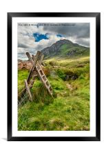 Stile To Tryfan Mountain, Framed Mounted Print