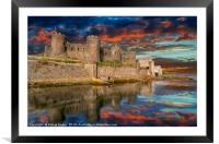 Conwy Castle Sunset, Framed Mounted Print