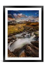 Mountains north Wales, Framed Mounted Print