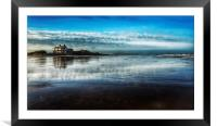 Brancaster beach and golf club, Framed Mounted Print