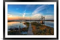 Thornham quay in Norfolk, Framed Mounted Print