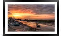 Sunset over the old granary, Framed Mounted Print
