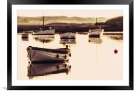 Early morning at Burnham Overy Staithe , Framed Mounted Print