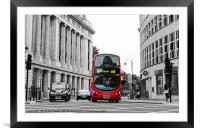 Big Red London Bus, Framed Mounted Print