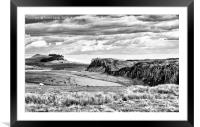 Steel Rigg - Hadrians Wall, Framed Mounted Print