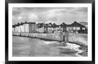 Hartlepool Town Wall - High Tide - Toned, Framed Mounted Print