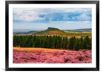 Roseberry Topping - ...Roseberry and Pines, Framed Mounted Print