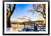 Roseberry Topping - Snow Topping, Framed Mounted Print