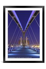 The Lowry bridge, Framed Mounted Print