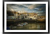 Falmouth harbour, Framed Mounted Print