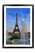 The Eiffel Tower from Trocadero, Framed Mounted Print