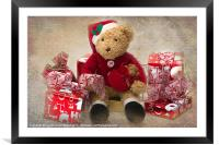 Teddy at Christmas, Framed Mounted Print