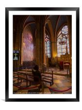 Interior of Notre Dame Cathedral, Paris, Framed Mounted Print