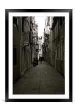Back streets of Venice, Framed Mounted Print