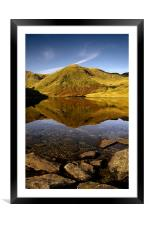 Lingmell end reflection, Framed Mounted Print