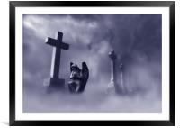 An angel from the mist, Framed Mounted Print