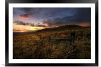 Rivington pike sunset, Framed Mounted Print