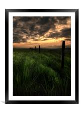 Moorland sunset, Framed Mounted Print