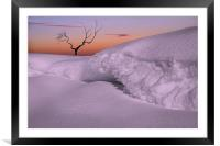 Lonely in the snow, Framed Mounted Print