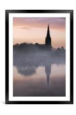 Belmont church reflection, Framed Mounted Print