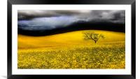 the perfect storm, Framed Mounted Print