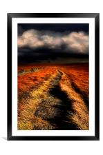A moorland path, Framed Mounted Print