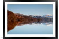 Conistons winter reflection, Framed Mounted Print