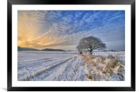 A winters scene, Framed Mounted Print
