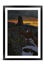 Thornthwaite crag, Framed Mounted Print