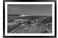 Seven Sisters Walk in Monochrome, Framed Mounted Print