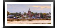 An Autumn evening Maldon Essex, Framed Mounted Print