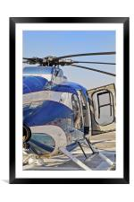 Helicopter abstract open right hand door, Framed Mounted Print