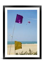 She drifts away to freedom, Framed Mounted Print