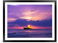 Gliding Through The Sunset, Framed Mounted Print