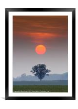 A perfect alignment., Framed Mounted Print