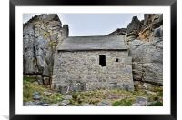 St Govans Chapel, Framed Mounted Print