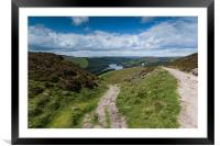 Ladybower Over Lead Hill, Framed Mounted Print