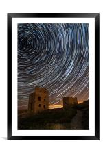 Perseids Over Wheal Coates, Framed Mounted Print