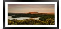 Dartmoor Reservoir Sunset, Framed Mounted Print