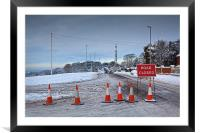 Road Closed, Framed Mounted Print
