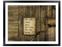 Old West Livery Stable, Framed Mounted Print