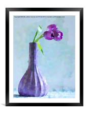 Tulip Abstract, Framed Mounted Print