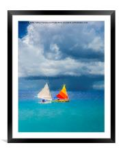 Racing the Storm, Framed Mounted Print