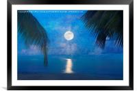 Tropical Moonglow, Framed Mounted Print